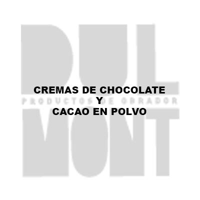 CREMAS DE CHOCOLATE Y CACAO EN POLVO