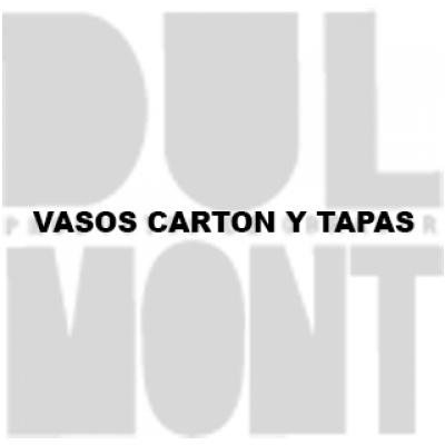 VASOS CARTON Y TAPAS